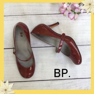 BP Red Patent Leather Mary Jane Heels